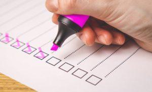 performance checklist