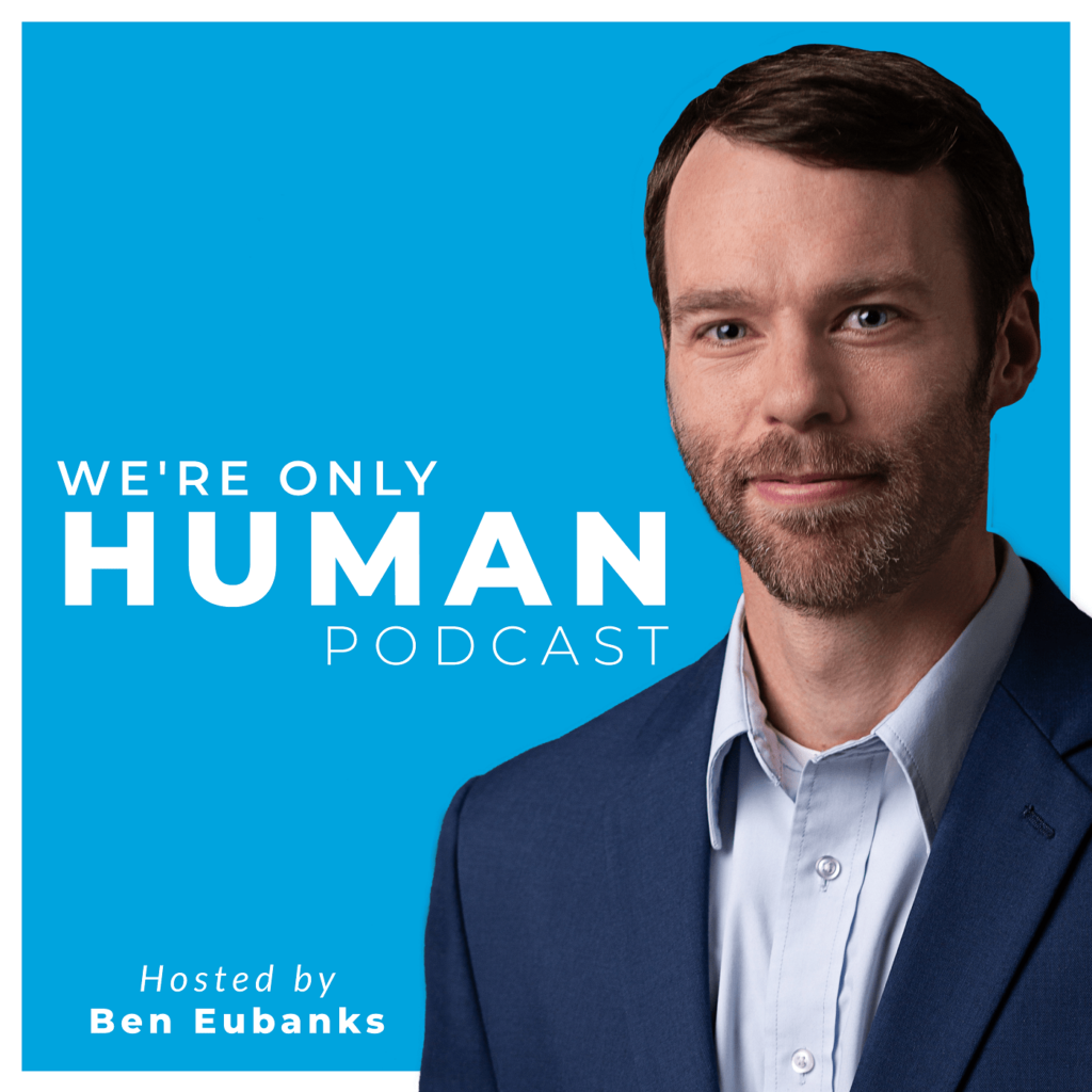 we're only human podcast tile